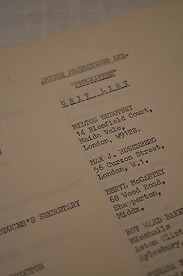 """ORIGINAL document for Amicus' """"And Now the Screaming Starts"""" script horror prop"""