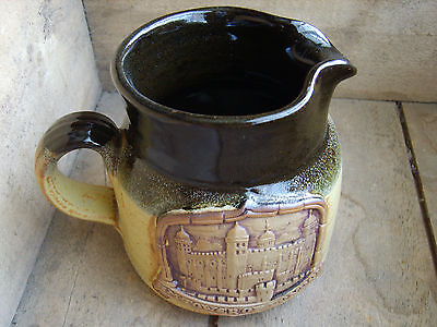 HM Tower of London Jug, Historic Royal Palace Tower of London, solid weighs 750g
