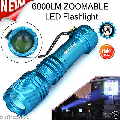 Mini Super Bright 6000LM CREE Q5 AA/14500 3 Modes ZOOMABLE LED Flashlight Torch