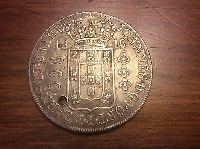 1818 Brazil 960 Reis silver crown @@ must see sharp coin @@