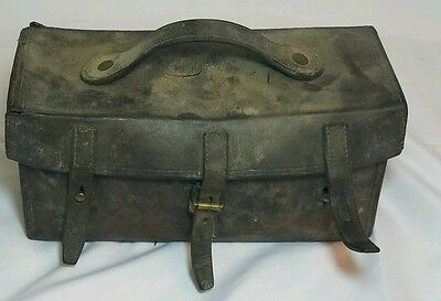 Antique Vintage Leather Doctor Medicine Apothecary Bag Satchel