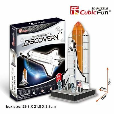 Cubic Fun 3D Jigsaw Puzzle - Space Shuttle Discovery - 87 Pieces - P601h - New