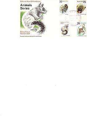 Australia 1974 First Day Cover Animals