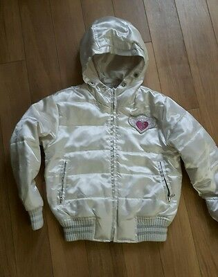 White jacket with hood for 6 years old girl