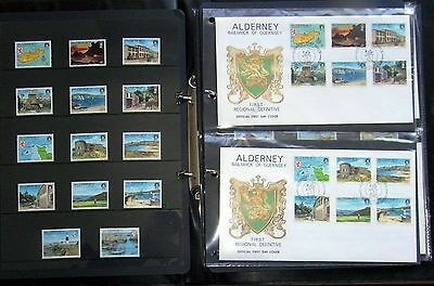 Alderney Mint Stamps and First Day Covers 1983-1993 inclusive and complete