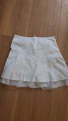 White Skirt for 6 years old girl with zip