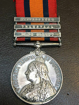 QSA Medal - 10th Notts Imperial Yeomanry / Sherwood Rangers - Died Lichtenburg