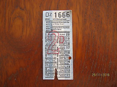 Bus ticket LT TROLLEYBUSES  TRAM BUS TICKET