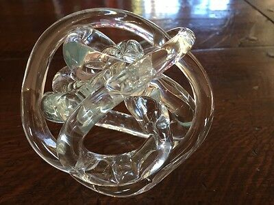 Endless Knot Glass Sculpture by Greenearth Stores