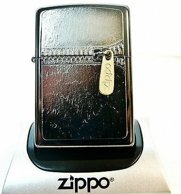 Rare Zippo Lighter Limited Edition *BLACK EDITION GOLD ZIPPER* with Special case