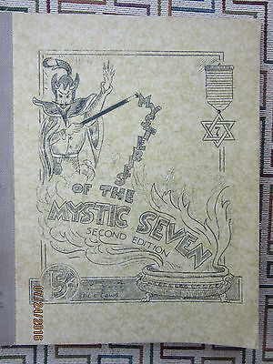 """Vintage Magic Booklet """"mysteries Of The Mystic Seven"""" Circa 1940's"""