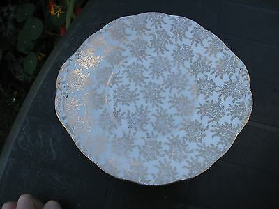 Vintage Royal Vale Gold Chintz  Sandwich / Cake Plate