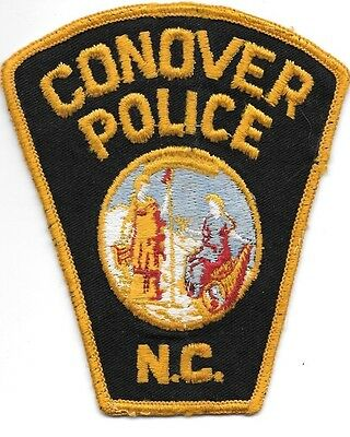 "*Used*  Conover, North Carolina (4"" x 4.5"") shoulder police patch (fire)"