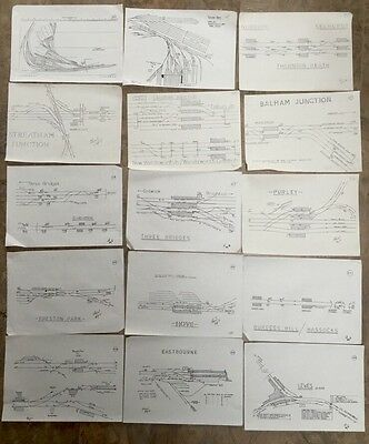 RAILWAY TRACK diagrams Signalling Points Drawings Bundle X15 SR Central Main