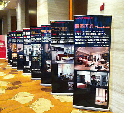 2 pcs 31x79 Roll Up Banner Stand Trade Show Roll Up Display, Free Printing