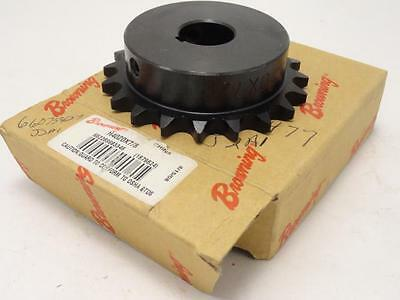 "159935 New In Box, Browning H4020X7/8 Sprocket #40, 20T 7/8"" ID"
