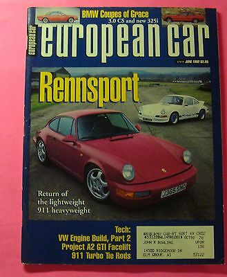 European Car Magazine 1992 Complete Set Volume 23 Jan Dec 1992 12