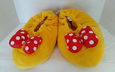 Disney Parks Minnie Mouse Slippers Adult Plush Shoes Size Large - NWT
