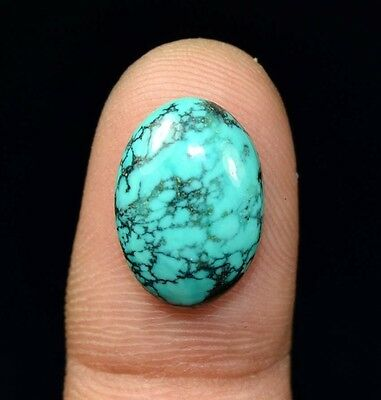 6.60 Cts. 100 % Natural Tibet Turquoise Oval Cabochon Untreated Loose Gemstones