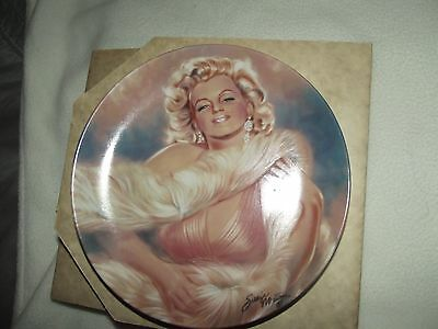 MARILYN MONROE Plate by Susie Morton Limited Edition One & Only Ernst pink dress