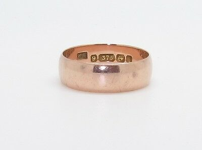 Fantastic Edwardian 9ct Rose Gold Wedding Band Ring
