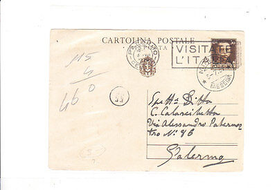 Italy 1937 Nice Ps From Palermo Vf