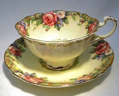 Art Deco Paragon Tapestry Rose Yellow  Cup & Saucer