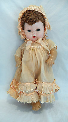 Beautiful American Character Tiny Tears Doll Caracul Wig Rubber Body