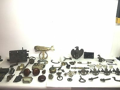 Assorted Vintage/ANTIQUE  DOOR HARDWARE LOCK SETS, DOOR KNOBS, PULLS, KNOCKERS