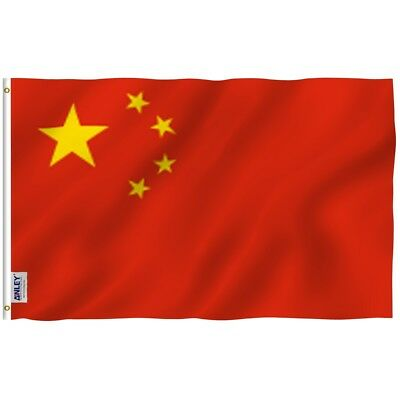 Anley Fly Breeze 3x5 Foot China Flag Chinese National Flags Polyester 3 X 5 Ft