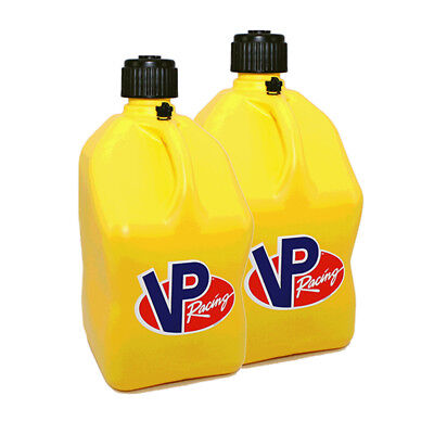 2 Pack Yellow VP 5 Gallon Square Racing Fuel Gas Can/Utility Water Jug/Jerry Can