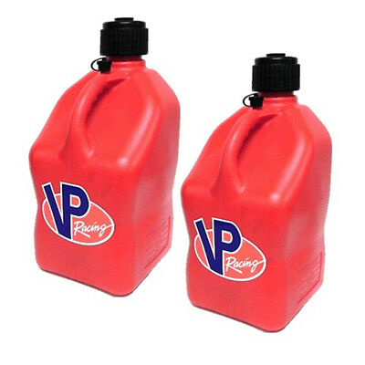 2 Pack VP 5 Gallon Red Racing Fuel Gas Can/Utility Water Jug/Jerry Container