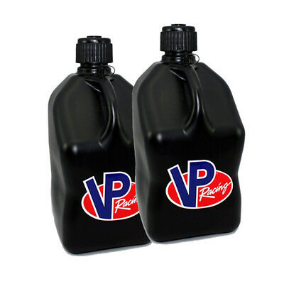 2 Pack Black VP 5 Gallon Square Racing Fuel Gas Can/Utility Water jug/Jerry Can