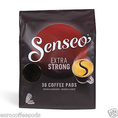 Senseo Douwe Egberts 72 Pods Extra Strong / Extra Dark Roast Pads 2 Packs Coffee