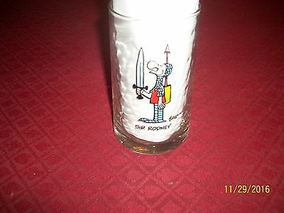 Vintage The Wizard Of ID Sir Rodney Arby's 1983 Glass Tumbler Collectors