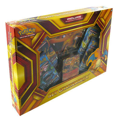 Box Pokemon SET CHARIZARD EX FUOCOBOMBA  + Carta Gigante + 4 Buste ITA