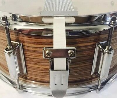 SnareFlair Snare Drum Straps Percussion Vintage White USA Made