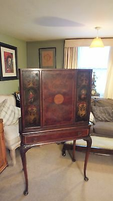 19 th Century Mahogany cabinet on Stand