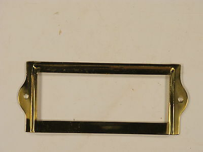 3 dozen Brass card holders Corbin file cabinet new old stock