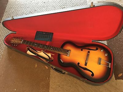 1960's Vox Student Prince Guitar sunburst with case papers