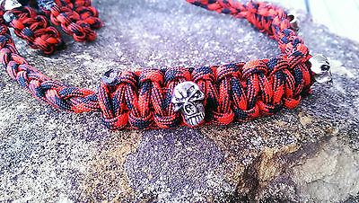 Archery Bow Sling 550 Paracord - Red Black camo + 3 zipper pulls MADE TO ORDER