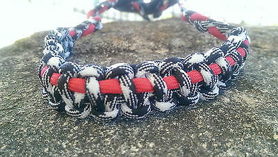 Archery Bow Sling 550 Paracord Red, Black whit camo + 3 zipper pulls