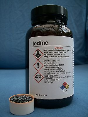 250g iodine crystals: 99.9% high purity, FOOD/PHARMACEUTICAL grade