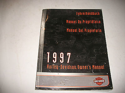 1997 Harley-Davidson M/cycl International Owners Manual Touring Custom Sportster
