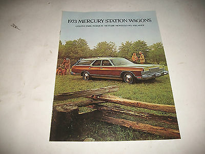 1973 Mercury Station Wagons Sales Brochure Cdn Issue Colony Park Marquis Meteor