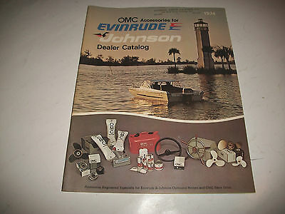 1974 DEALER CATALOG OMC ACCESSORIES for EVINRUDE+JOHNSON PRICES LISTED