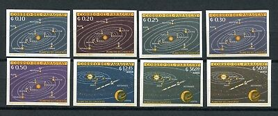 Paraguay Scott #728-735 MNH IMPERF Planets Space CV$25