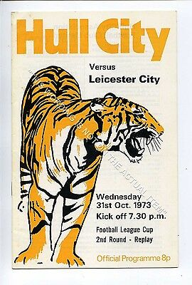 (Ga5227-469) Hull City vs Leicester City League Cup 2nd Rd Replay 31/10/1973 EX