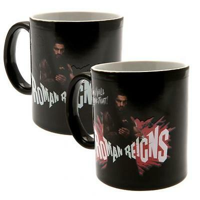 Official Licensed Product WWE Heat Changing Mug Cup Coffee Tea Black Gift New