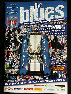 Carlisle United v Chesterfield 2015 - 2016 League Cup